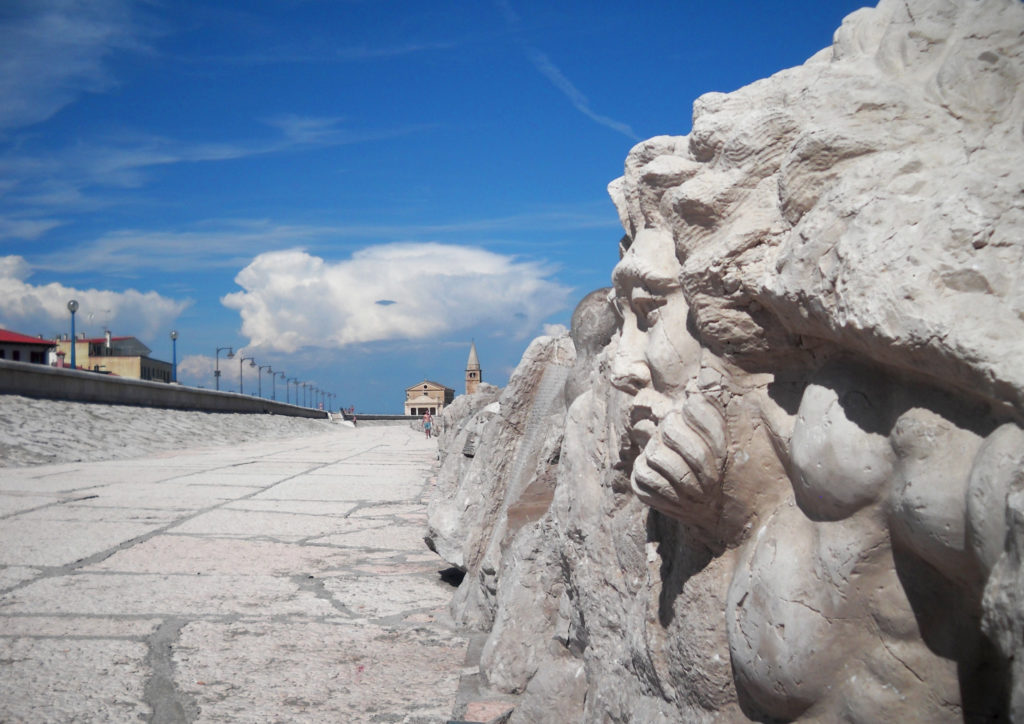 The cliff of Caorle