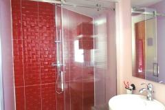 Cabina doccia del bagno privato della camera Orient Express